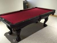 Brunswick 7 ft. Billiard Pool Table Danbury Cherry 3