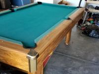 8ft table. Overall good condition. May need a new Felt.