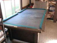 For sale a 7' Brunswick Bristol Pool table. Model is JK