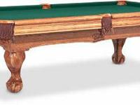 Brunswick Camden Pool Table with claw feet. Barely