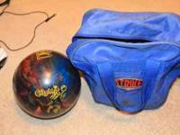 Sick bowling ball, made for Cosmic Bowling! I've really