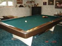 Brunswick Gold Crown, professional 9 foot table