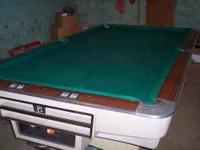 4 1/2 ft x9ft pool table good condition, refinished