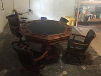 I have Brunswick poker table with swivel chairs for