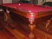 I have a Brunswick Pool Table for sale (Contender