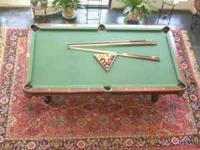 Beautiful Brunswick Billiards table bought 8-10 years