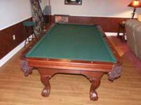 Brunswick model Camden. Table, cover, balls, 2 racks,