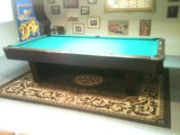 I have a Brunswick Medalist 4 1/2 X 9 pool table with