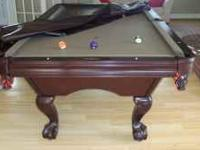 8 Foot Brunswick Pool Table 1 year old Taupe Felt, 5
