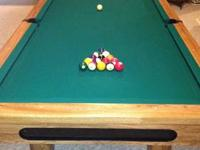 For sale is a used Brunswick Pool Table. It retailed