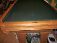I'm selling a Brunswick pool table excellent shape.