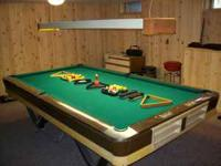 "Brunswick ""Viscount"" Tournament Pool Table. The"