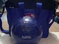 Brunswick Zone Bowling Ball with Bowling Bag Blue, Size