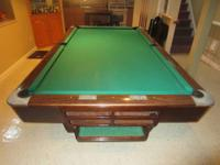 Brunswick Medalist 9ft Pool Table with Simonis cloth in