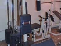 2 seat Brutus weight set for sale. Has chest machine,
