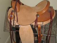 Big Horn A Fork Buckaroo Saddle, Model 1780 plus free