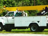 up for sale is a gmc topkick, bucket truck, utility