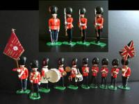 This is a collection of metal, hand painted figures of