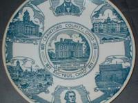 This plate commemorates the 150th birthday of Bucyrus.