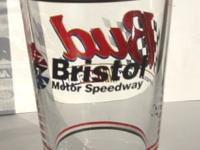 Heavy sturdy Beer Glass. Bud is the official beer of
