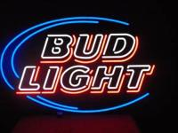 large approximate 4 foot by 3 foot opti neon, this is