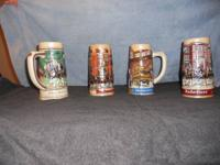 Hi,I have a set of 4 beer stines from landmark series A