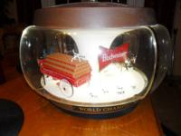 Budweiser Beer Clydesdale Carouselglobe Light. It's a