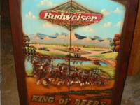 This is a remarkable vintage Budweiser Dart Cabinet.