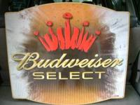 FOR SALE BUDWEISER SELECT BEER TIN SIGN Budweiser sign