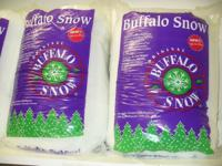 we have 7 new bags of buffalo snow, works for holiday