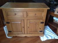"""Buffet...pine construction Measures 42"""" in length..."""