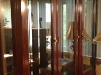 Buffet and China Cabinet with Five Glass Doors and