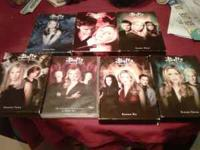 All seven seasons of Buffy the Vampire Slayer for sale.