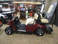 THIS GOLF CART HAS OUR OUR CRIMSON PAINT AND WILL MAKE