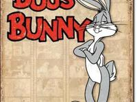 "Bugs Bunny Retro Panels 12.5""Wx16""H Tin Signs NEW"