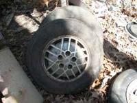 I HAVE 2 BUICK WHEELS $20 EACH TIRES ARE NO GOOD  OR