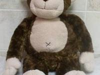 Build A Bear Brown Tan Belly Monkey Stuffed Animal 18""