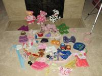3 animals - lot of clothes/accessories for $75, or you