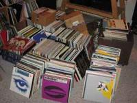 "Large collection of vinyl, 675 12"" records to be sold"