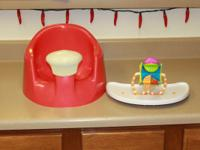 bumbo seat with removable tray and spinning toy. If