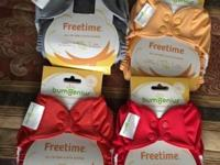 I have 4 Bumgenius brand new cloth diapers reusable all