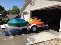 2 bumper boats for sale with trailer. Fits 2 grownups