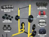 NOW IN STOCK: BUMPER PLATES: 10 pound. 15 lb. 25 pound.