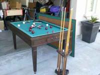 BUMPER POOL TABLE NICE BRUNSWICK GREAT SHAPE!!!!! COMES
