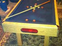 Beautiful SLATE bumper pool table bought only four