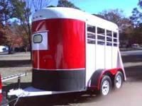 Super clean and nice 2 horse bumper pull horse trailer.