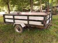 Bumper Pull Trailer - 6 ft. wide 10 ft. long steel