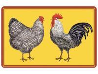 Multi Color 18 in. x 27 in. Neoprene Farmhouse Chickens