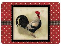 This Licensed Polk-A-Dot Black Speckled Rooster mat is