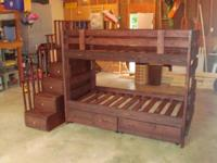 We build solid wood bunk beds, loft beds, captains beds